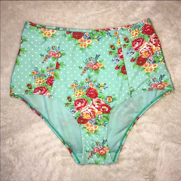 d0f4c15af400a Swim   Nwt Highwaisted Vintage Suit Bottoms   Poshmark